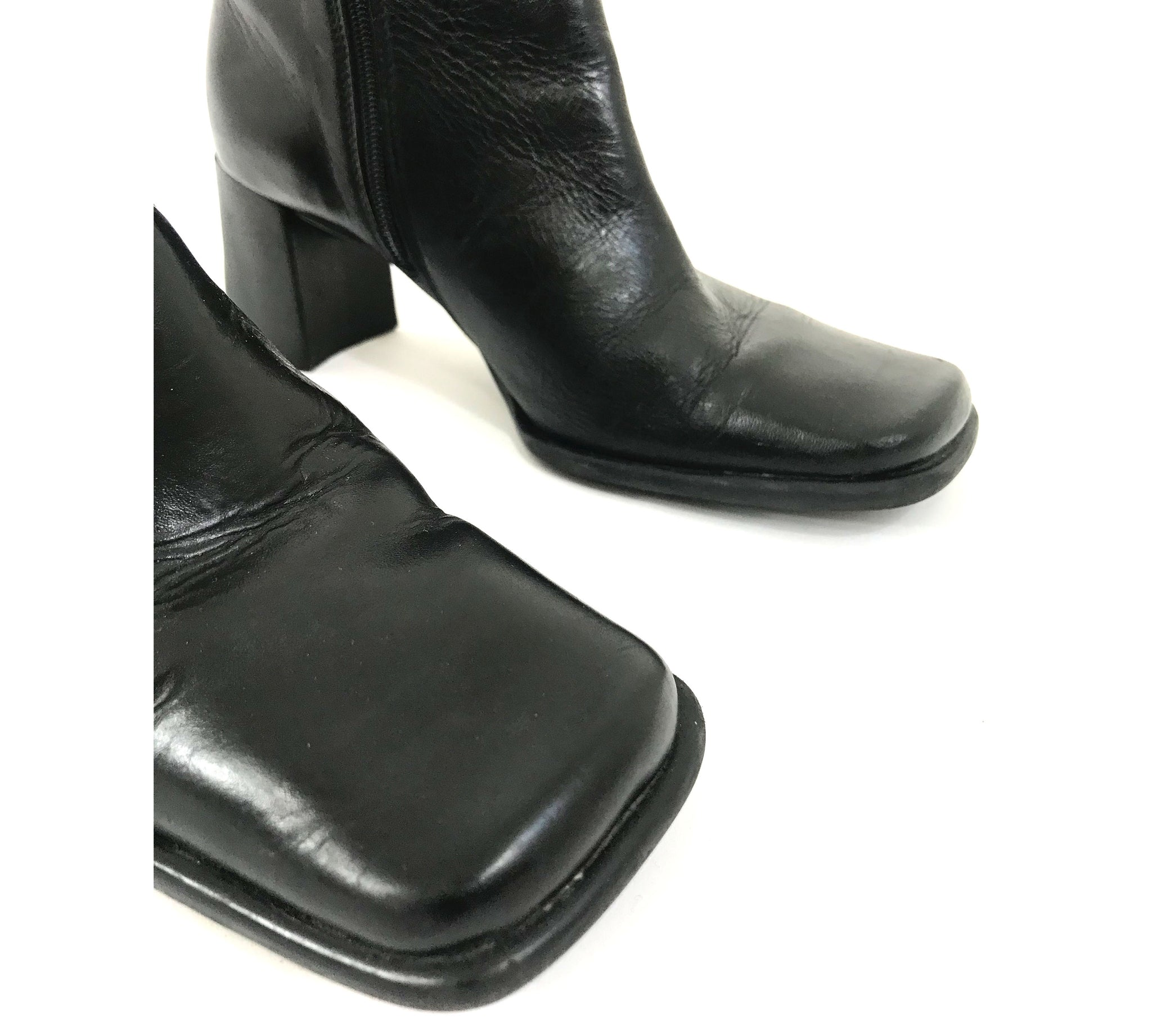 Square Toed Ankle Boots