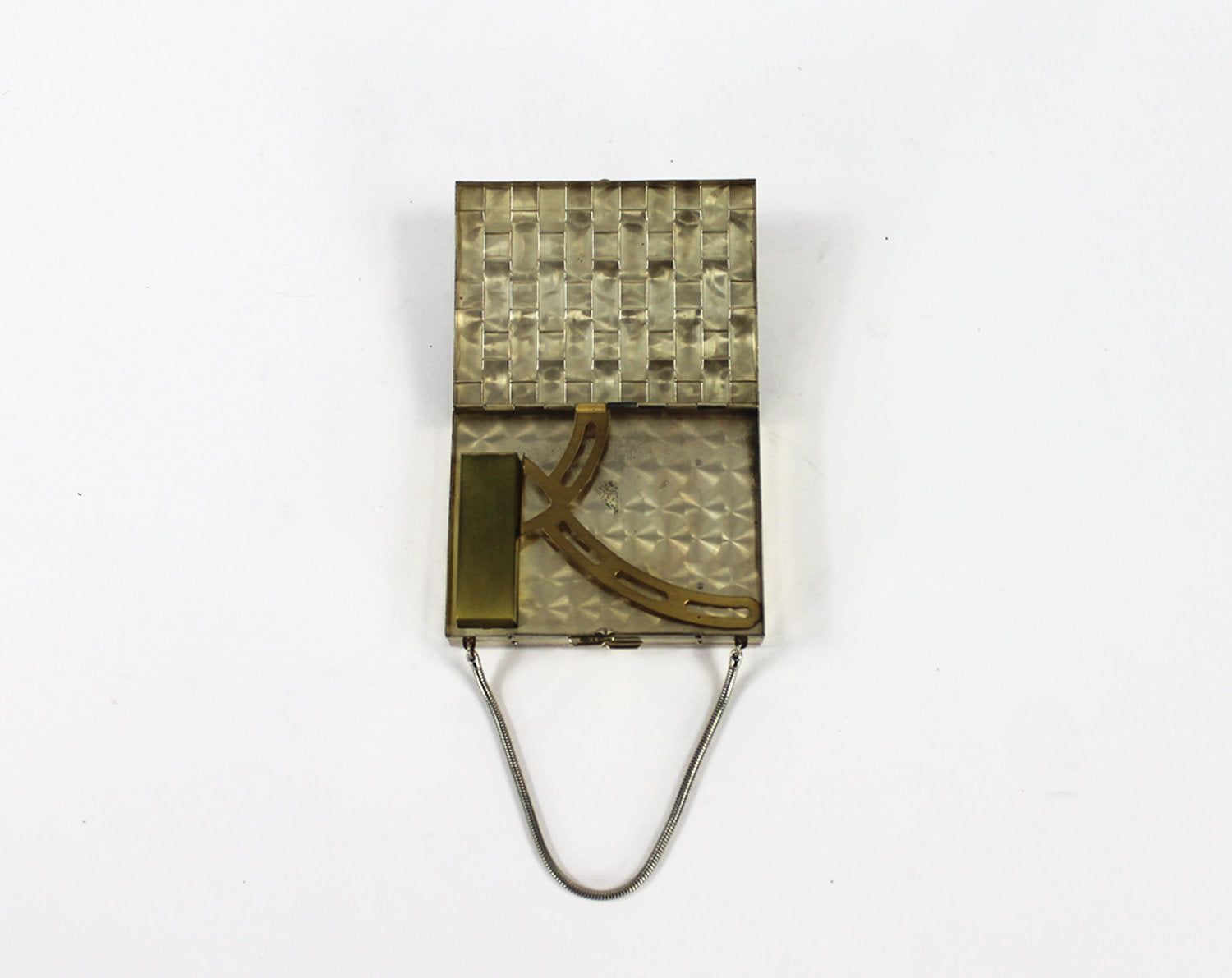 Minaudière - 30s Brass Make Up Handbag