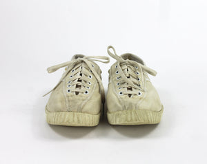 Beige Canvas Tretorn sneakers