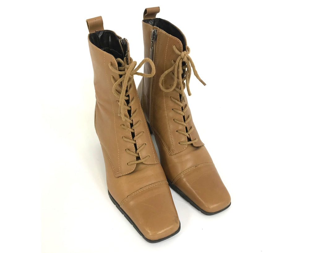 Lace up Leather Ankle Boots