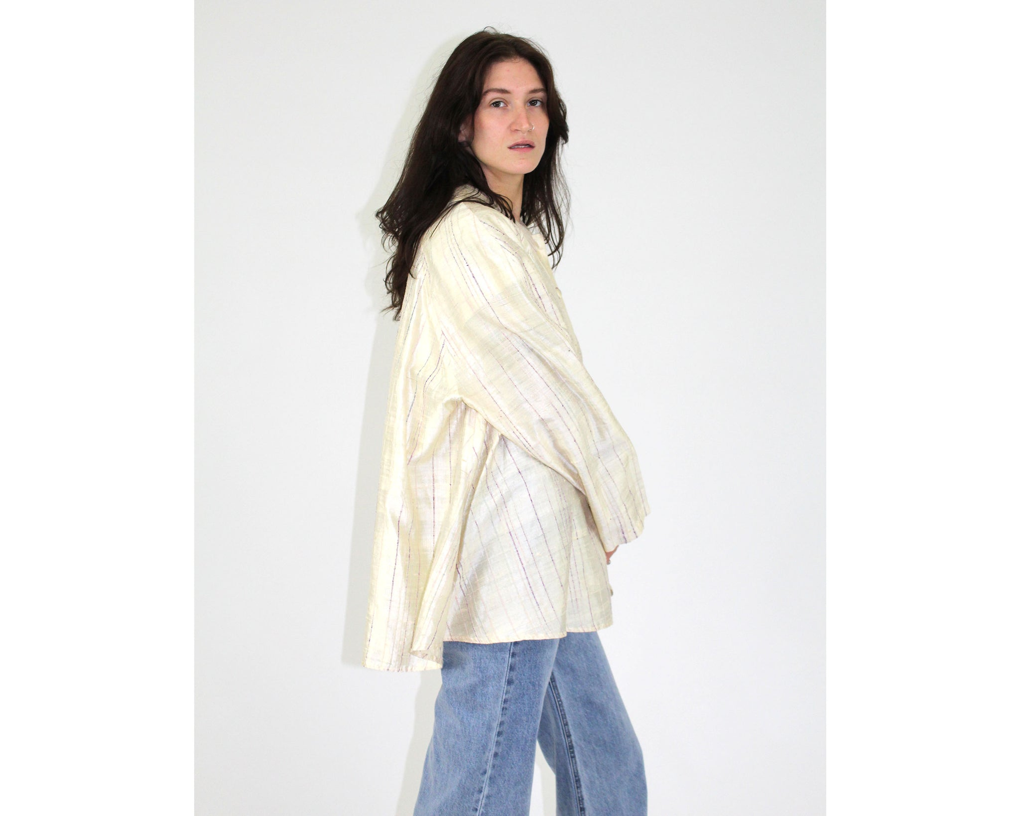 Raw Silk Tent Blouse