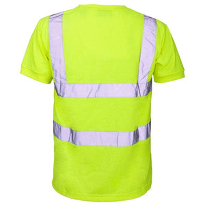 Supertouch Yellow Hi Vis Viz T shirt LESHonline.co.uk