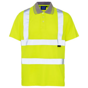 ST yellow Polo shirt Hi Viz Vis LESHonline.co.uk