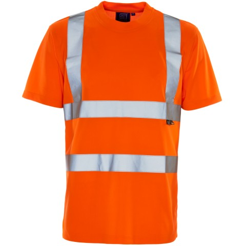 ST Hi Viz Vis Orange T Shirt LESHonline.co.uk