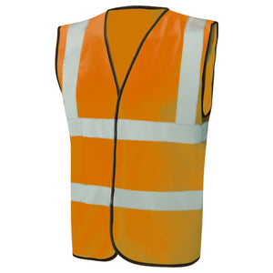 Orange Hi Vis waistcoat jacket vest LESHonline.co.uk