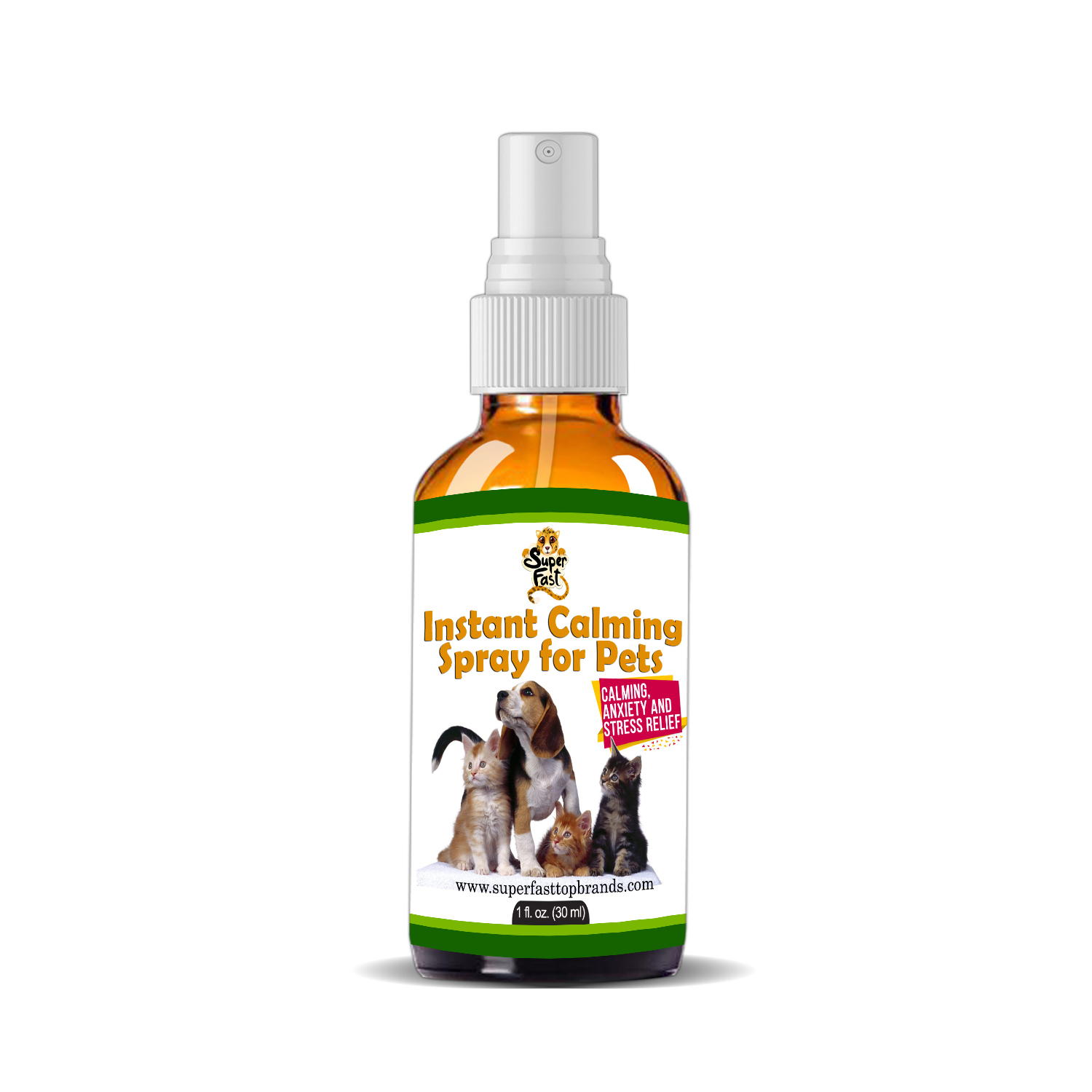 Instant Calming Spray For Pets Helps With Separation Anxiety Fear Of Superfast Top Brands