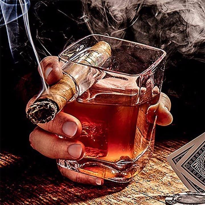 Cigar Holding Glass - 3 Pack