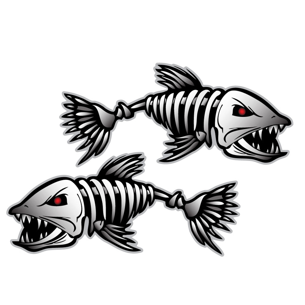Fish Skeleton Decals