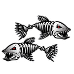 Fish Skeleton Decals - 3 Pack