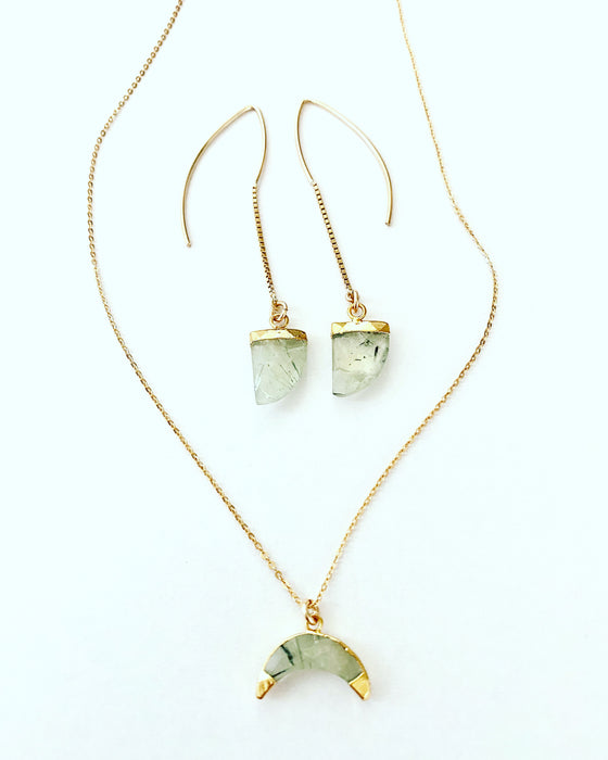 "Prehnite ""The Loving Crystal"" Necklace"