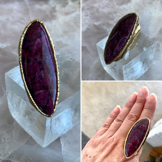 Eudialyte Ring of Positive Vibrations