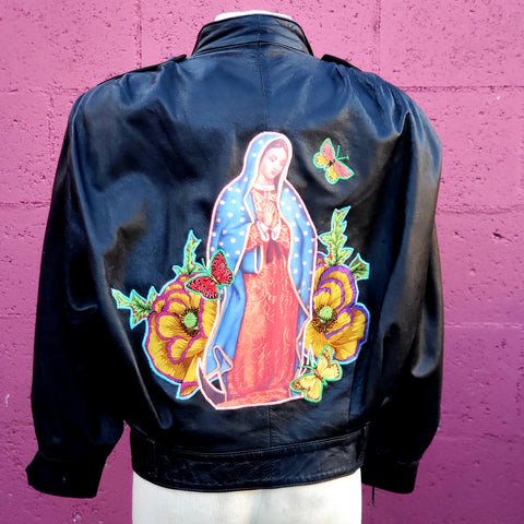 Ancestral Bendiciones Upcycled Vintage Leather Jacket