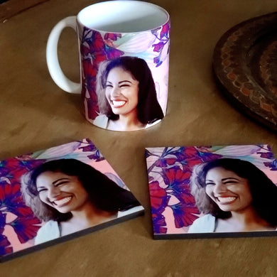 Selena Big Smile Coaster & Mug Set