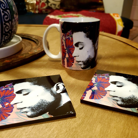 Prince in Ginkgo forest Coaster & Mug Set