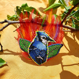 Blue Bird the Son of the Sun Feather Head Piece