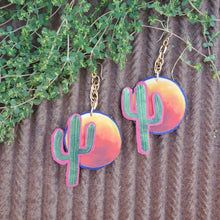 Cactus Blood Moon Earrings