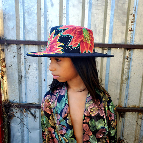 Flower Power Polyester Bolero Hat