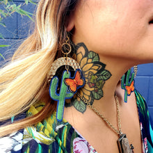 Cactus Butterfly Earring