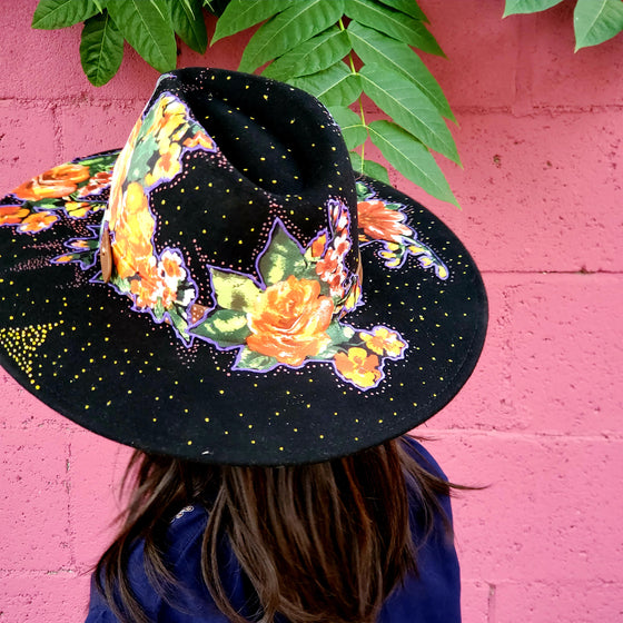 Blooming under the night   Wool  Hat