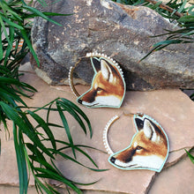 Fox pearl Hoop Earrings