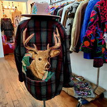 Deer in the forest Wool coat