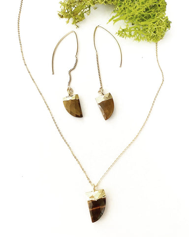 "Tiger's Eye ""Clarity"" Necklace"