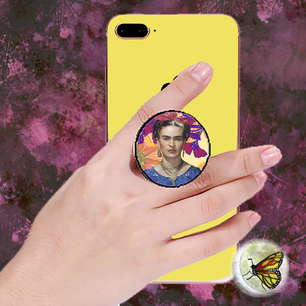 Frida Selfie Portrait Pop Socket