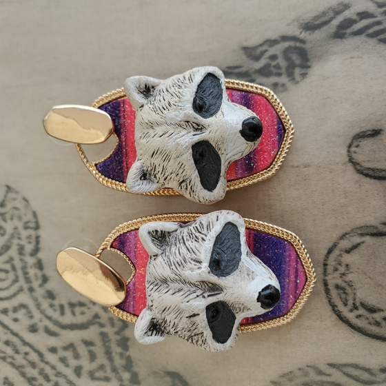 Raccoon Head Serape Collection