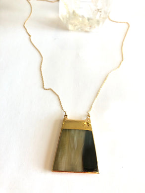 Horn Rectangle Necklace