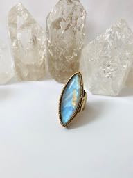 Moonstone Channel the Moon Ring