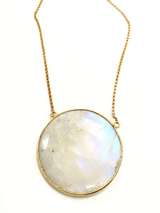 Moonstone Full Moon Necklace