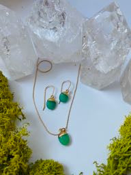 Chrysoprase nugget earrings