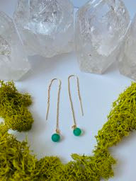 Chrysoprase Sphere Earrings