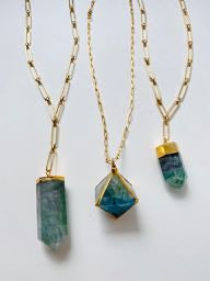 Fluorite Prism Necklace