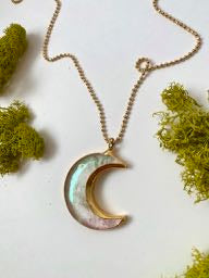 Angel Aura Crescent Moon Necklace