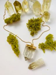 "Lemon Quartz ""Optimism & Clarity"" Necklace"