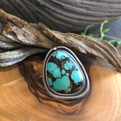 Turquoise in Silver Satin Finish Ring