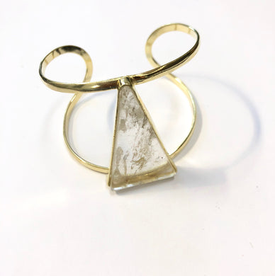 Quartz Triangle Ring