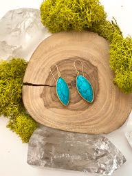 Turquoise Howlite Earrings