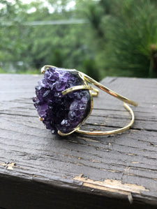 Amethyst Cluster Ring