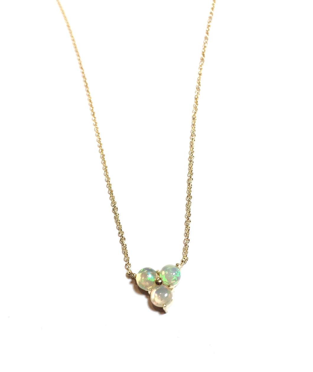 14K Opal Triad Necklace