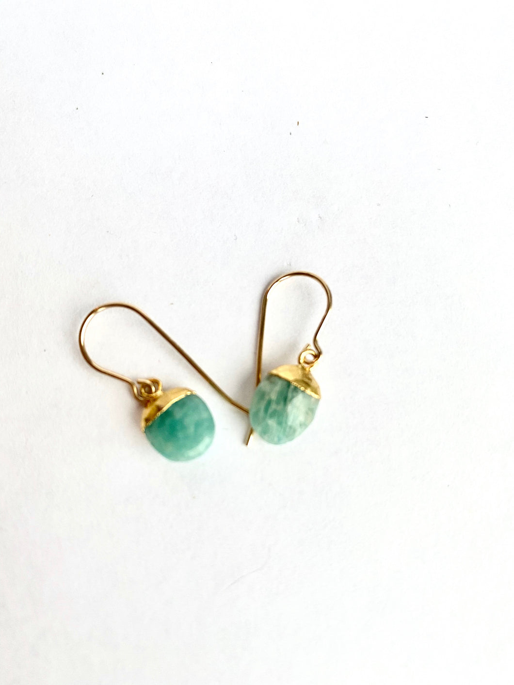Amazonite Nugget Earrings