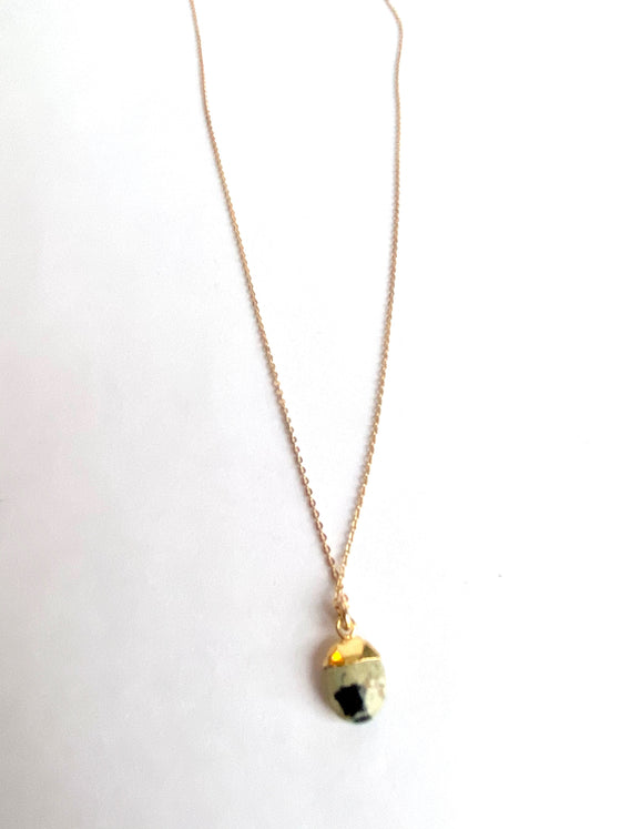 Dalmatian Jasper Nugget Necklace