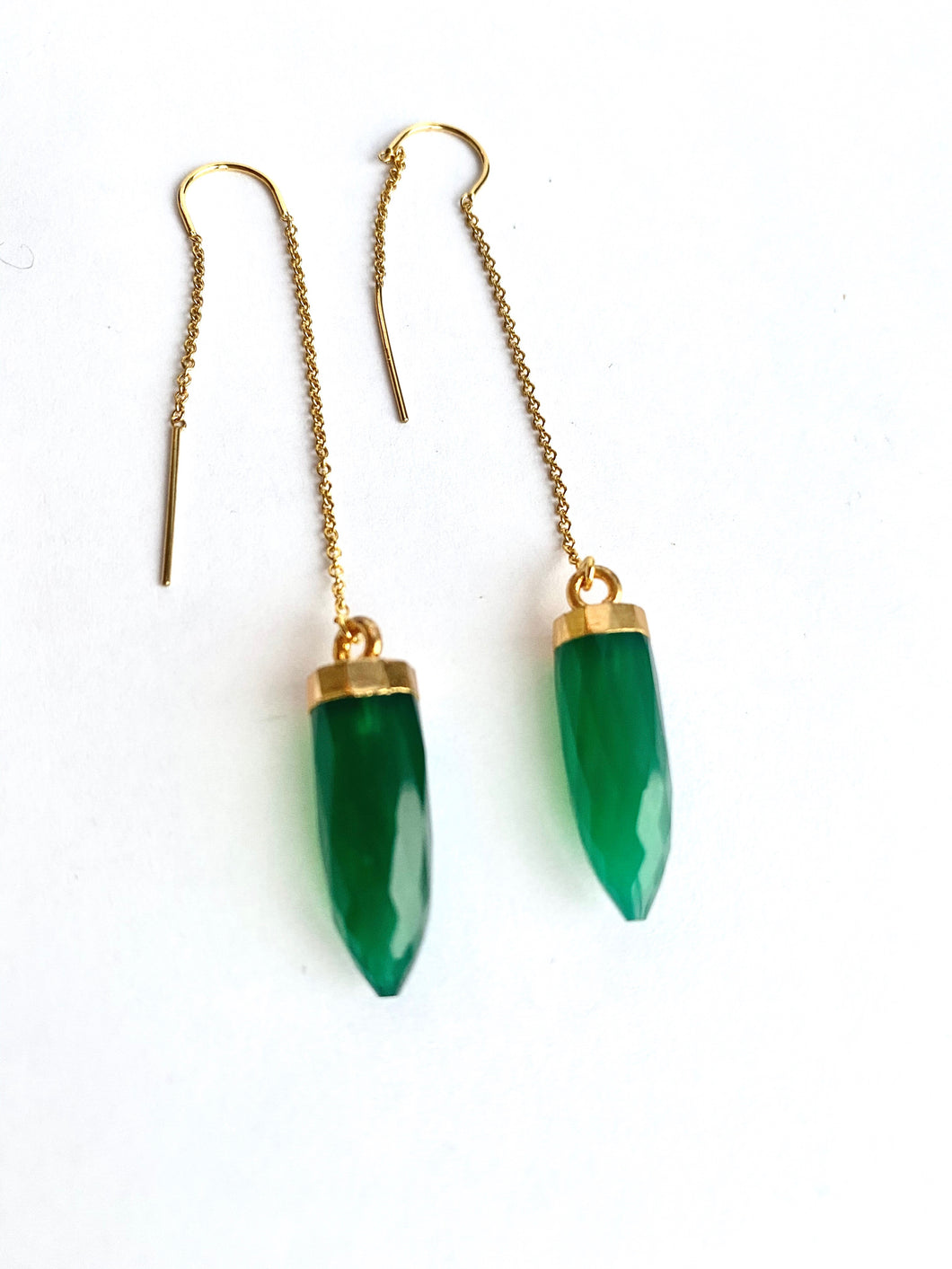 Pointed Green Onyx Hangers