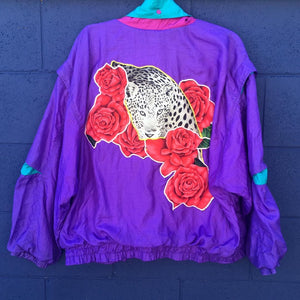 Electro Roses Cheetah Windbreaker