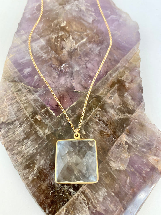 Quartz 4 Corners Necklace