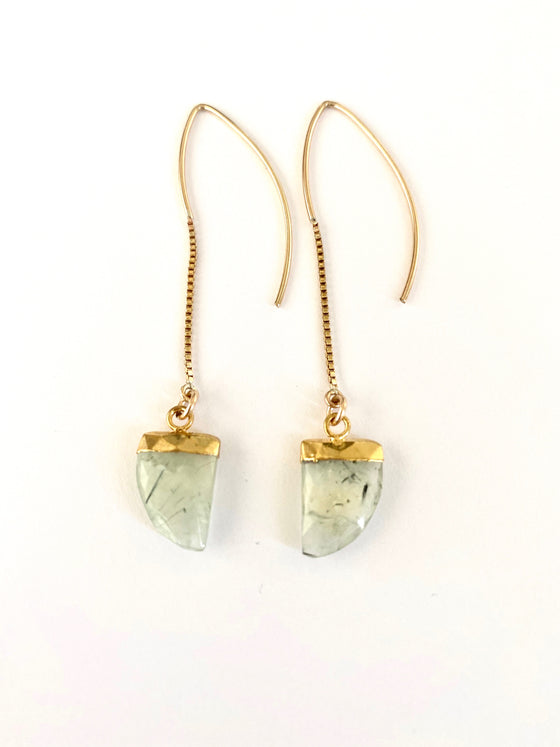 "Prehnite ""The Loving Crystal"" Earrings"