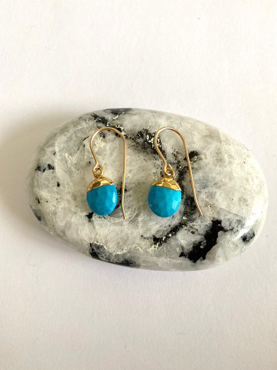Turquoise Nugget Earrings