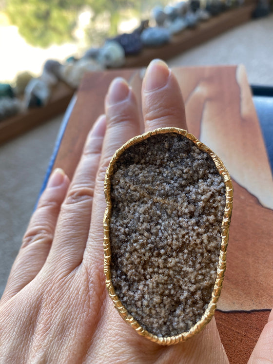 Druzy Rock Specimen RIng