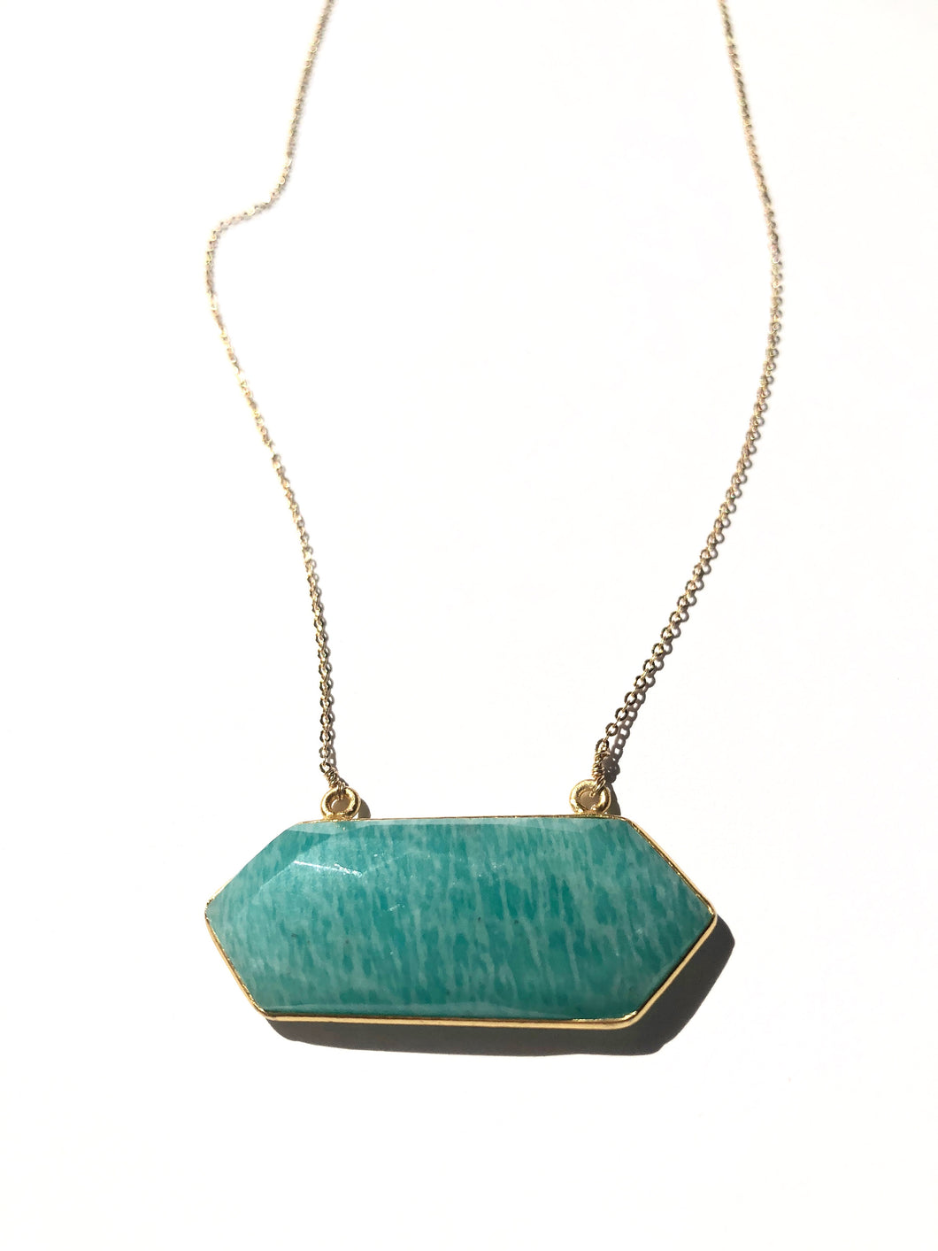 Amazonite Crest Necklace